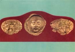 Grèce - Athènes - Athína - Le Musée National Archéologique - Masques De L'Acropole De Mycènes - Antiquité - Carte Neuve - Grèce