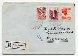 1966 YUGOSLAVIA,MONTENEGRO,RIJEKA CRNOJEVICA TO BELGRADE,REGISTERED COVER - 1945-1992 Sozialistische Föderative Republik Jugoslawien