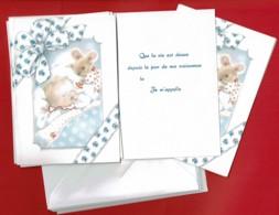 6 Faire-parts De Naissance GARÇON - Avec Enveloppes - Birth & Baptism