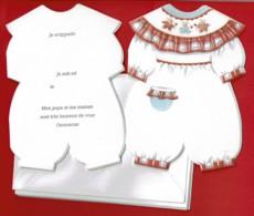 6 Faire-parts De Naissance FILLE - Avec Enveloppes - Birth & Baptism