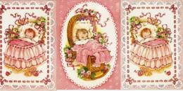 3 Cartes Postales - Naissance D'une FILLE - Editions Rotacolor N° R 583 - Birth & Baptism