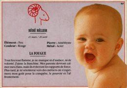 """Carte Postale """"Bébé Et Les Astres - LE BEBE BELIER - Illustration Stéphanie R. - ArmorImage N° BH-784 - Birth & Baptism"""