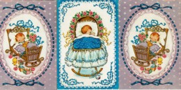 3 Cartes Postales - Naissance D'un GARÇON - Editions Rotacolor N° R 583 - Birth & Baptism