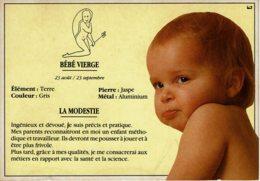 """Carte Postale """"Bébé Et Les Astres - LE BEBE VIERGE - Illustration Stéphanie R. - ArmorImage N° BH-789 - Birth & Baptism"""