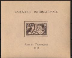 Nouvelle Calédonie - 1937 - Bloc Feuillet BF N°Yv. 1 - Exposition Internationale - Neuf Luxe ** / MNH / Postfrisch - Blocs-feuillets