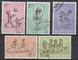 1399/1403 JeuxD'Enfents /Kinderspelen Oblit/gestp - Belgien