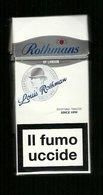 Tabacco Pacchetto Di Sigarette Italia - Rothman Da 10 Pezzi Louis Rothmans - Tobacco - Tabac -Tabak - Tabaco - Empty Cigarettes Boxes