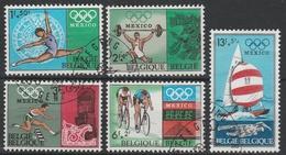 1456/1460 Mexico 1968 Oblit/gestp - Belgien