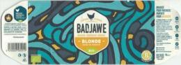 Etiquette Décollée Bière Badjawe Blonde Brasserie Coopérative Liégeoise - Bière