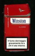 Tabacco Pacchetto Di Sigarette Italia - Winston Classic Da 20 Pezzi Bis Tipo 2 - Tobacco-Tabac-Tabak-Tabaco - Empty Cigarettes Boxes