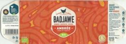 Etiquette Décollée Bière Badjawe Ambrée Brasserie Coopérative Liégeoise - Bière
