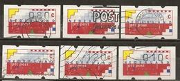 Pays-Bas Netherlands 1989 Timbres D'automates Klussendorf Vending Machine Stamps Obl - 1980-... (Beatrix)