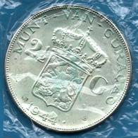 Curaçao 2 ½ Gulden 1944 Argent Silver 0.720 KM# 46 WILHELMINA KONINGIN DER NEDERLANDEN - Curaçao