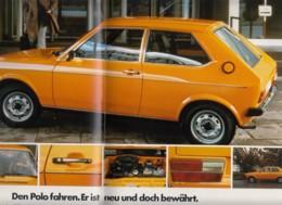 Original Prosekt VW Polo, 1975, 26 Seiten DinA 4 Und Ein Einlegeblatt: Preisliste - KFZ