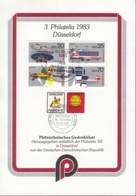 DDR 2516-2519, 4erBlock Auf Sonderblatt Mit ESST Und Vignette Zur PHILATELIA '83 Düsseldorf - [6] Oost-Duitsland