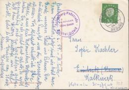 Landpoststempel: Schaafheim über Dieburg 2.7.1959 Auf AK: Kochelsee-Walchensee - BRD