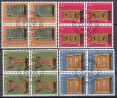 SCHWEIZ 1345- 1348 4erBlock, Gestempelt, Pro Patria: Bauernmöbel 1987 - Pro Patria