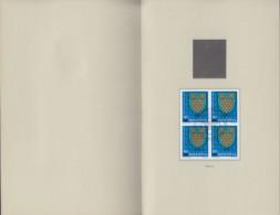 SCHWEIZ 1165-1168, 4erBlock, Gestempelt, In PTT-Präsentationsbroschüre (16 Seiten), Pro Juventute, Gemeindewappen 1979 - Pro Juventute
