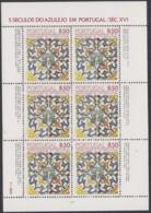 PORTUGAL  1548, Kleinbogen,postfrisch **, 500 Jahre Azulejos In Portugal, 1981 - Blocs-feuillets