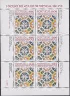 PORTUGAL  1557, Kleinbogen,postfrisch **, 500 Jahre Azulejos In Portugal, 1982 - Blocs-feuillets