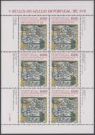 PORTUGAL  1568, Kleinbogen,postfrisch **, 500 Jahre Azulejos In Portugal, 1982 - Blocs-feuillets