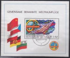 DDR  Block 58, Gestempelt, Interkosmos-Programm, 1980 - DDR