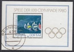 DDR  Block 60, Gestempelt, Olympische Sommerspiele Moskau, 1980 - Blocks & Kleinbögen