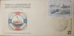 U) 1975, CHILE, TRIBUTE TO THE FIFTIETH ANNIVERSARY OF THE VOLUNTEER BODY OF THE LIFE BOATS, FDC - Chile