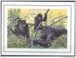Rwanda Ruanda 1985 OBCn° Bloc 99 *** MNH  Cote 15 Euro Faune Gorillas Gorilles - Ruanda