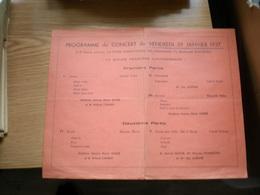 Cercle Francais Des Etudiants Etrangers Paris Programme Du Concert Du Vendredi 1937 - Programs
