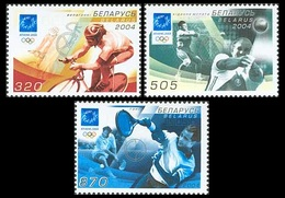 284 - Belarus - 2004 - Athens Olympic - 3v - MNH - Lemberg-Zp - Bielorussia