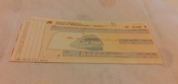 BIGLIETTO TRENO DA CHIUSI CHIANCIANO TERME A PALERMO CENTRALE 1989 - Treni