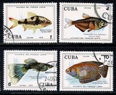 Cuba 1978 Yv. 2058/61, Mi 2303/06 Vissen/poissons/fishes/fische - Cuba