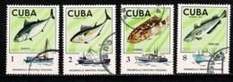 Cuba 1975 Yv. 1827/30 Vissen/poissons/fishes/fische - Cuba