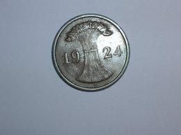 ALEMANIA 2 RENTENPFENNIG 1924 A (1098) - 2 Rentenpfennig & 2 Reichspfennig