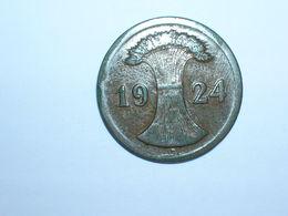 ALEMANIA 2 RENTENPFENNIG 1924 D (1099) - 2 Rentenpfennig & 2 Reichspfennig