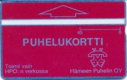 Finland Phonecard HÄMEEN PUHELIN HPO-D6 ( 301A.... ) - Finlande
