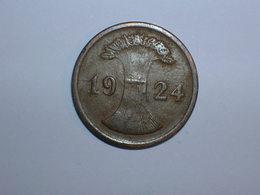 ALEMANIA 2 RENTENPFENNIG 1924 E (1100) - 2 Rentenpfennig & 2 Reichspfennig