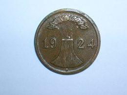 ALEMANIA 2 RENTENPFENNIG 1924 F (1101) - 2 Rentenpfennig & 2 Reichspfennig