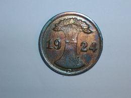 ALEMANIA 2 RENTENPFENNIG 1924 G (1102) - 2 Rentenpfennig & 2 Reichspfennig