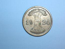 ALEMANIA 2 RENTENPFENNIG 1924 J (1103) - 2 Rentenpfennig & 2 Reichspfennig