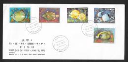 ETHIOPIA ETIOPIA ASMARA 1970 FISH F.D.C. N° 15 - Etiopía