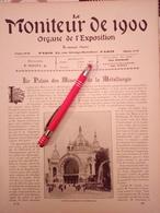 1900 EXPOSITION UNIVERSELLE PALAIS DES MINES & METALLURGIE - SECTION ITALIE BELGIQUE RUSSIE - GAZOGÉNE - BISCUIT PERNOT - Books, Magazines, Comics