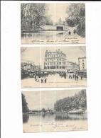 4240 Lot De 5 Cpa Béziers Pont Neuf - Place De La Republique - Pont Rouge - Caserne Cavalerie - Fontaine Du Titan - Beziers