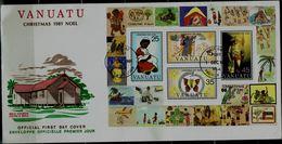 VANUTAU 1981 FDC CHRISTMAS BLOCK MI No BLOCK 2 VF!! - Vanuatu (1980-...)