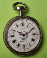 TRES BELLE MONTRE GOUSSET En ARGENT Fin Dans étui Cuir - Vers 1900 -NE FONCTIONNE PAS - Daversin à La Ferté Milon - Relojes De Bolsillo