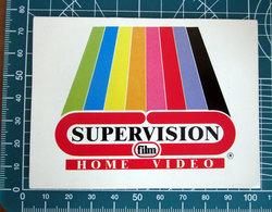 SUPERVISION HOME VIDEO VINTAGE STICKER ADESIVO NEW ORIGINAL - Stickers