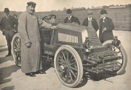 AUTOMOBILE Magnifique Document Henry Fournier Vainqueur De Paris - Bordeaux  Et De Paris - Berlin 1901 - Autorennen