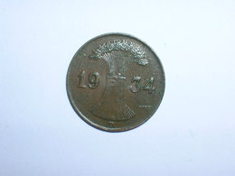ALEMANIA 1 REICHPFENNIG 1934 D (1147) - [ 4] 1933-1945 : Tercer Reich