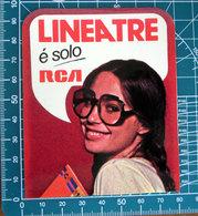 LINEA TRE E' SOLO RCA VINTAGE STICKER ADESIVO NEW ORIGINAL - Stickers